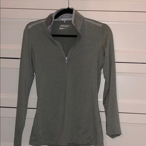 Light gray size small NIKE Dry Fit long sleeve top